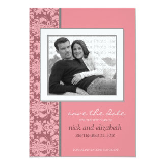 5X7 Pick YOUR OWN Color Baroque Save the Date 3 Announcements