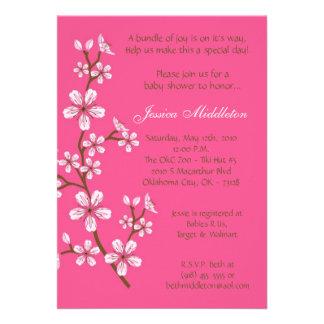 5x7 Pink Cherry Blossom Baby Shower Invitation