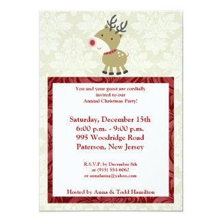 5x7 Reindeer Invitation