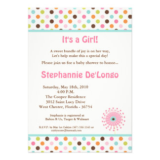 5x7 Spring Time Flowers Baby Shower Invitation Personalized Invitations
