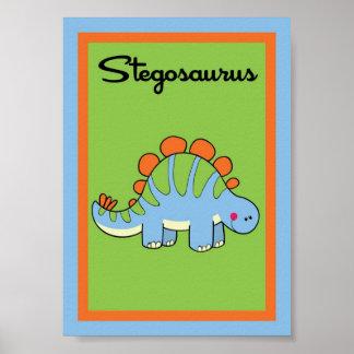 5X7 Stegosaurus Dinosaurs Wall Art Posters