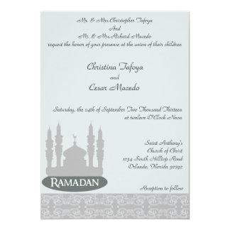 5x7 Wedding Invitation Soft Blue Islamic Ramadan