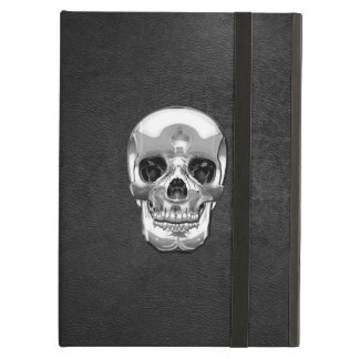 [600] Silver Human Skull iPad Air Case