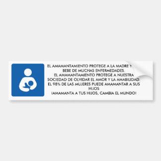 600px-Breastfeeding-icon-med.svg, ... - Customized Bumper Sticker
