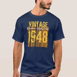 60-69 Birthday Gift Best 1948 Vintage V002 T-Shirt