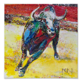 60.96x60.96cm, Paper poster (chechmate) Bull