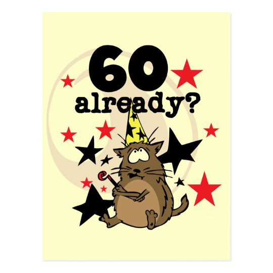 60 Already Birthday Postcard