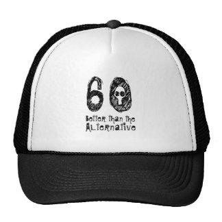 60 Better Than Alternative 60th Funny Birthday Q21 Mesh Hats