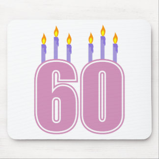 60 Birthday Candles (Pink / Purple) Mouse Pad