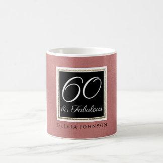 60 & Fabulous Coffee Mug | Faux Rose Gold Foil