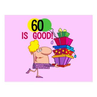 60 is Good Birthday Tshirts and Gifts Postcard