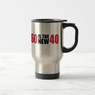 60 is the new 40 birthday coffee mugs