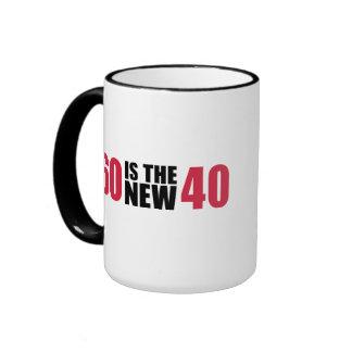 60 is the new 40 birthday coffee mug