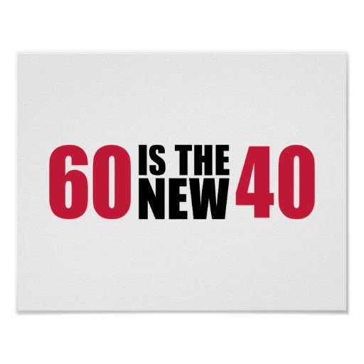 60 is the new 40 birthday poster