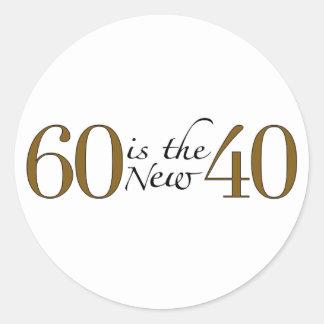 60 Is The New 40 Round Sticker