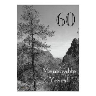 60 Memorable Years/Birthday Celebration-Nature Card