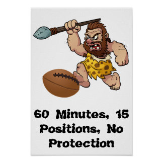60 Minutes, 15 Positions - Rugby Poster