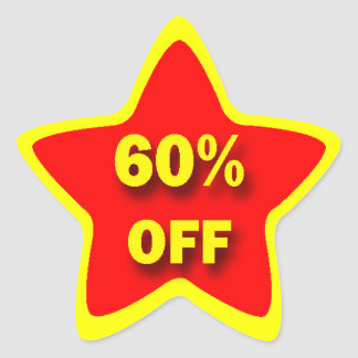 60% OFF Star Stickers