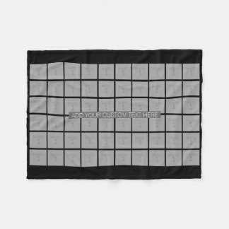 60 Photo Template Collage - Can Edit Color Fleece Blanket