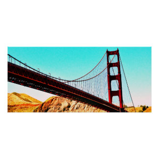 60 X 27 SEMI-GLOSS GOLDEN GATE BRIDGE POSTER