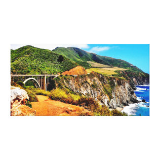 60 X 30 BIXBY BRIDGE CALIFORNIA COAST CANVAS PRINT