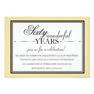 60 Year Anniversary Party Invitation