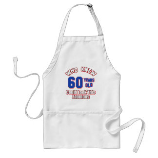 60 year old birthday designs standard apron