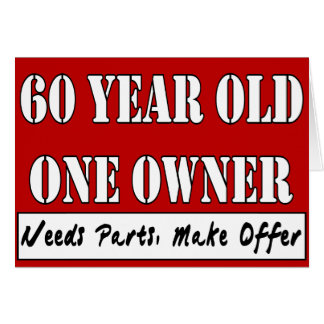 60 Year Old, One Owner - Needs Parts, Make Offer Card
