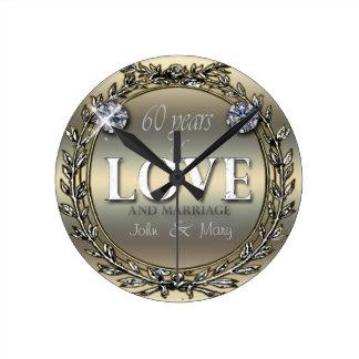 60 Years of Love Wall Clock