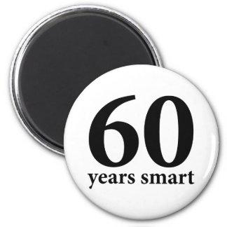60 years smart refrigerator magnets