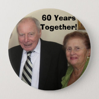 60 Years Together! 10 Cm Round Badge