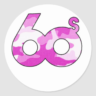 60s Cancer Stickers