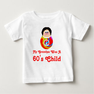 60's Child Funny Cartoon Peace Kid Baby T-Shirt