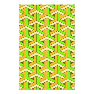 60s design green stationery