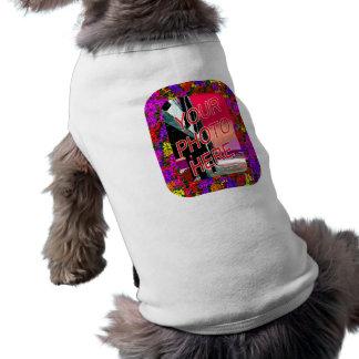60s Flowers Frame Templates Sleeveless Dog Shirt