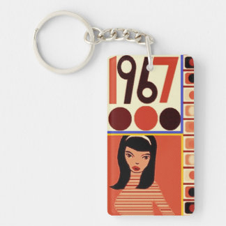 60s  go go chick 1967 Duchess Key Ring
