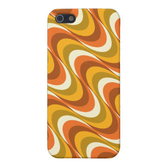 60's orange waves case for the iPhone 5