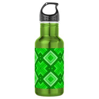 60s pattern MARLENE, green.jpg 532 Ml Water Bottle