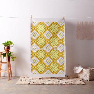 60s pattern MARLENE, yellow Fabric
