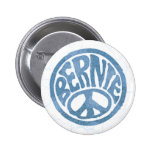 60s Peace Bernie 6 Cm Round Badge