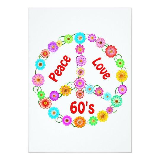 60s Peace Love Card