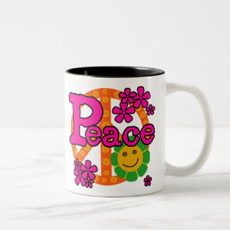 60s Style Peace Coffee Mugs