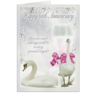 60th Anniversary - Diamond Anniversary Card