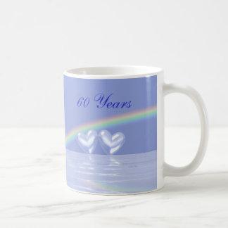60th Anniversary Diamond Hearts Coffee Mug