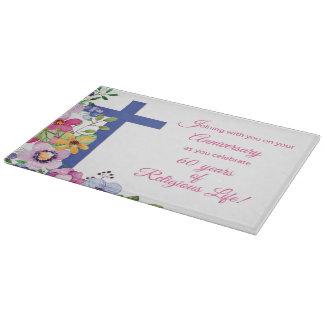 60th Anniversary, Nun, Religious Life Cross Cutting Board