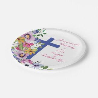 60th Anniversary, Nun, Religious Life Cross Paper Plate