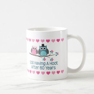 60th Anniversary Owl Couple Mug