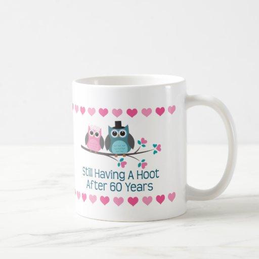 60th Anniversary Owl Couple Mug