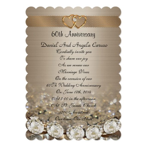 60th Wedding Anniversary Party Ideas: 60th Anniversary Party Invitation