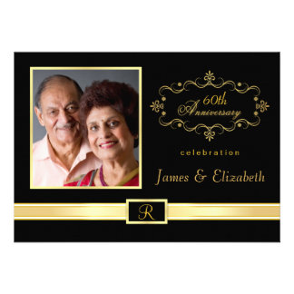 60th Anniversary Party Invitations - with Photo